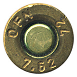 7.62mm NATO Blank  Nigeria OFN 7,62 72 head view.