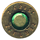 7.62mm NATO Ball  Argentina 7.62x51 22 FLB 82 head view.