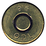 .50 BMG Blank  New Zealand 95 ODL head view.