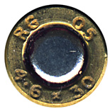 4.6 x 30mm Ball  United Kingdom RG 05 4.6 x 30 head view.
