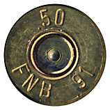 .50 BMG Ball  Belgium FNB 91 .50 head view.