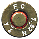 7.62mm NATO Blank  United States FC 7.62 N 74 head view.